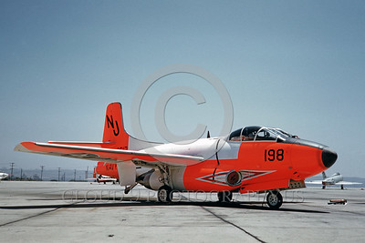 DG-F3DUSN 0001 A static day-glow Douglas F-3 Skynight US Navy 5-1963 military airplane picture by Clay Jansson