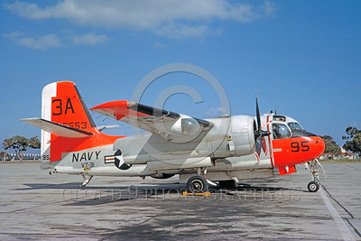 DG-S-2USN 0009 A static day-glow Grumman TS-2A Tracker US Navy 136553 VT-31 WISE OWLS military airplane picture by Clay Jansson