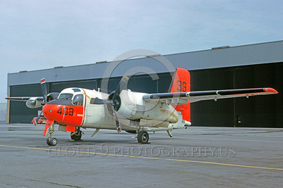 DG-S-2USN 0005 A static day-glow Grumman S2F-B Tracker US Navy 3-1963 military airplane picture by Clay Jansson