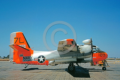 DG-S-2USN 0001 A static day-glow Grumman S2F-1 Tracker US Navy 133261 Los Alamitos 10-1960 military airplane picture by Clay Jansson