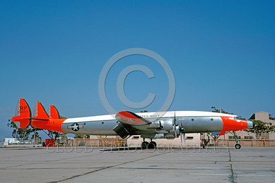 DG-C-121USN 0001 A static day-glow Lockheed C-121J Constellation US Navy 128443 5-1963 military airplane picture by Clay Jansson