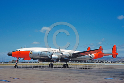 DG-C-121USN 0003 A static day-glow Lockheed C-121 Constellation US Navy 131643 4-1961 military airplane picture by Clay Jansson