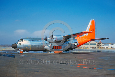 DG-C-130USN 0001 A static Lockheed C-130B Hercules with skis US Navy military airplane picture by Eugene M Sommerich