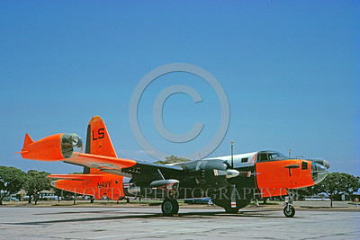 DG-P-2USN 0005 A static day-glow Lockheed P-2V5 Neptune US Navy VP-832 Los Alamos 8-1962 military airplane picture by Clay Jansson