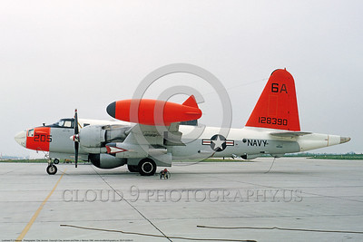 DG-P-2USN 0001 A static day-glow Lockheed SP-2E Neptune US Navy 128390 ASW airplane Andrews AFB 5-1965 military airplane picture by Clay Jansson