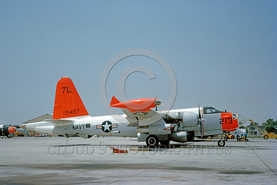 DG-P-2USN 0003 A static day-glow Lockheed P-2V Neptune US Navy 131457 7-1964 military airplane picture by Clay Jansson