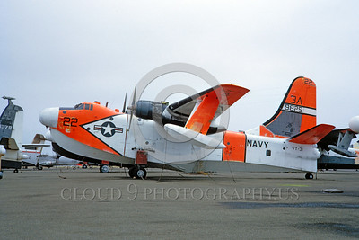 DG-P5MUSN 0003 A static day-glow Martin P5M Marlin US Navy seaplane 9825 VT-31 WISE OWLS military airplane picture by Clay Jansson