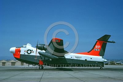 DG-P5MUSN 0001 A static day-glow Martin P5M Marlin US Navy 7931 seaplane VP-31 GENIES 9-1962 military airplane picture by Clay Jansson