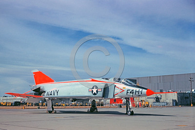 DG-F-4USN 0005 A static day-glow McDonnel F-4H-1 Phantom II US Navy 142259 jet fighter military airplane picture by Clay Jansson