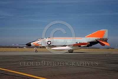 DG-F-4USN 0003 A static day-glow McDonnell F-4 Phantom II US Navy 14530 jet fighter 3-1962 military airplane picture by Eugene M Sommerich