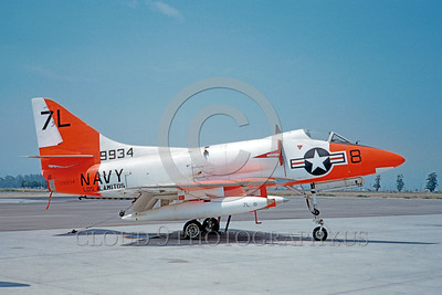 DG-A-4USN 0001 A static day-glow Douglas A-4 Skyhawk US Navy 139934 Los Alamitos 8-1960 military airplane picture by Clay Jansson