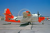 DG-C-1USN 0001 A static day-glow Grumman C-1A Trader US Navy 146055 NAS Alameda 5-1963 military airplane picture by Williaim T Larkins