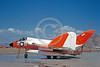 DG-F4DUSN 0003 A static day-glow Douglas F4D-1Skyray US Navy Naval Missile Center NAS Pt Mugu 4-1961 military airplane picture by Clay Jansson