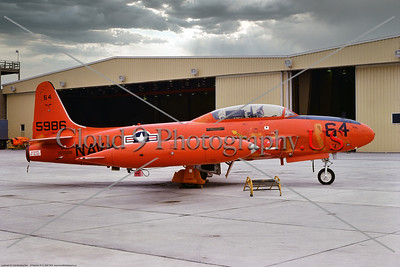 QT-33-USN 004 A static orange Lockheed QT-33A Shooting Star USN target drone, 155986, 8-1975, NAS Pt  Mugu, military airplane picture by Stephen W  D  Wolf     BBB_8915     Dt