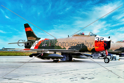 QF-86H-USN 001 A static North American QF-86H Sabre USN jet fighter drone target, 31403, 8-1975, NAS Pt  Mugu, military airplane picture by Stephen W  D  Wolf         BBB_8899     Dt