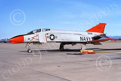 F-4USN 00687 A static McDonnell Douglas QF-4N Phantom II US Navy 153056 PMTC NAS Pt Mugu 12-1991 military airplane picture by Charles Cowan