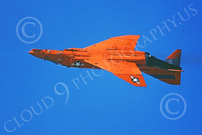 F-4USN 00148 A flying red McDonnell Douglas QF-4 Phantom II US Navy 11-1979 military airplane picture by Michael Grove, Sr