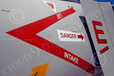 MilAircDet 00001 Danger painted near jet intake on a McDonnell Douglas F-4 Phantom II jet fighter says it all, by Peter J Mancus