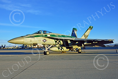 Boeing F-18E-USN 00189 A static Boeing F-18E Super Hornet USN VFA-195 DAMBUSTERS commanding officer's airplane NAS Fallon 2-2015 military airplane picture by Peter J Mancus