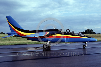 EE-Alpha Jet 00002 A static colorful Dassault Alpha Jet German Air Force jet trainer 7-1990 military airplane picture by Wilfried Zetsche
