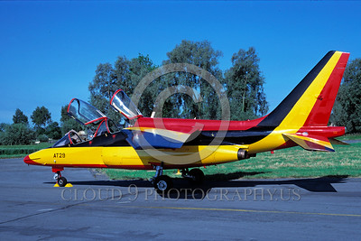 EE-Alpha Jet 00008 A static colorful Dassault Alpha Jet German Air Force 7-1987 military airplane picture by H J van Borkheim