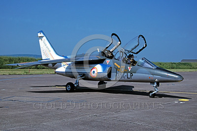 EE-Alpha Jet 00001 A static colorful Dassault Alpha Jet French Air Force jet trainer 314-LP 7-1996 military airplane picture by Michel Fournier