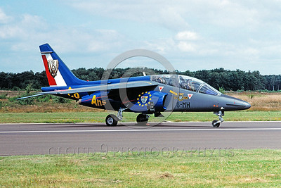 EE-Alpha Jet 00005 A static colorful Dassault Alpha Jet French Air Force jet trainer 7-2002 military airplane picture by Wilfreid Zetsche
