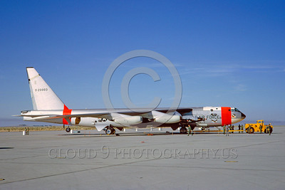 DG-B-52 0001 A static day-glow Boeing B-52 Stratofortress USAF 20003 jet bomber with X-15 Edwards AFB military airplane picture by Clay Jansson