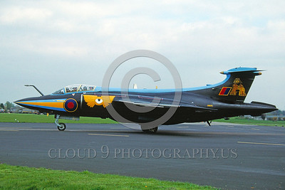 EE-Buccaneer 00001 A taxing colorful Hawker Siddeley Buccaneer British Royal Navy attack jet 4-1991 military airplane picture by Robbie Shaw