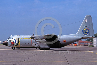 EE-C-130Forg 00001 A static coloful Lockheed C-130 Hercules Belgium Air Force CH-02 cargo plane military airplane picture by Marinus Tabak