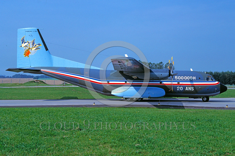 EE-C160 00001 A static colorful Transall C160 French Air Force 9-1987 military airplane picture by Wilfried Zetsche