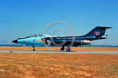EE-F-101BForg 00001 A taxing colorful McDonnell CF-101B Voodoo Canadian Armed Forces 101012 HAWK ONE Abbottsford military airplane picture by Peter B Lewis