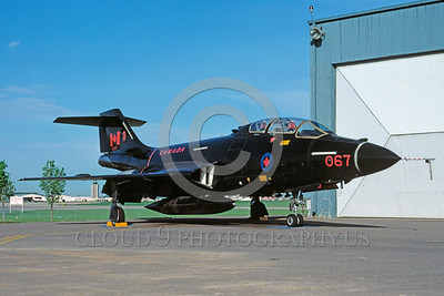 EE-F-101BForg 00003 A static black McDonnell CF-101B Voodoo Canadian Armed Forces interceptor 10-1988 Trenton military airplane picture by Robert F Dorr
