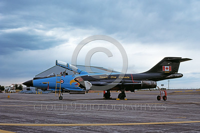 EE-F-101BForg 00002 A static colorful McDonnell CF-101B Voodoo Canadian Armed Forces Hawk One 11-1977 military airplane picture by Brian C Rogers