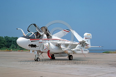 EE-EA-6BUSN 00001 A static colorful Grumman EA-6B Prowler US Navy NAS Pax River 7-1976 BICENTENNIAL markings military airplane picture by Jim Sullivan