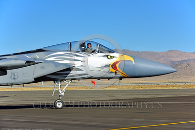 EE-F-15ANG 0027 Close up of the awesome nose art on a taxing colorful one-of-a-kind paint scheme McDonnell Douglas F-15 Eagle air superiority jet fighter Oregon ANG 79041 at Stead for Reno Air Races 9-2016 military airplane picture by Peter J  Mancus