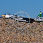 EE-F-15ANG 0023 A flying colorful McDonnell Douglas F-15 Eagle Oregon ANG jet fighter 79041 in rare special eagle markings takes-off at Kingsley Fiedl 7-2017 military airplane picture by Pet ...