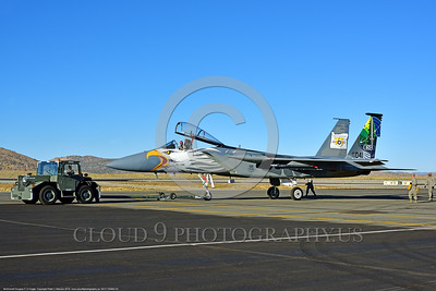 EE-F-15ANG 0003 A towed one-of-a-kind colorful paint scheme McDonnell Douglas F-15 Eagle air superiority jet fighter Oregon Air National Guard 79041 at Stead for Reno Air Races 2016 military airplane picture by Peter J  Mancus