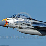 EE-F-15ANG 0034 Close up of the nose of a flying colorful McDonnell Douglas F-15 Eagle Oregon ANG jet fighter 79041 in rare special eagle markings 7-2017 military airplane picture by Peter J ...