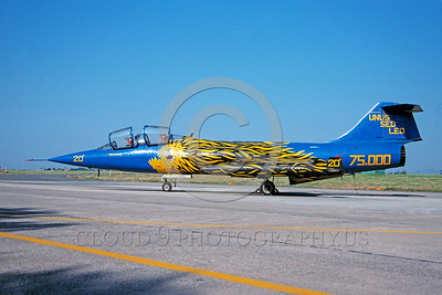 EE-F-104Forg 00019 A static colorful Lockheed F-104 Starfighter Italian Air Force jet fighter 6-1981 military airplane picture via African Aviation Slide Service