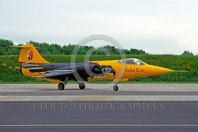 EE-F-104Forg 00018 A static colorful Lockheed F-104 Starfighter German Air Force 6-1985 military airplane picture by Wilfried Zetsche