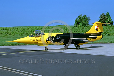 EE-F-104Forg 00005 A static colorful and beautiful Lockheed F-104 Starfighter German Air Force jet fighter 5-1985 military airplane picture by Wilfried Zetsche
