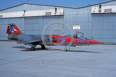 EE-F-104Forg 00026 A static colorul Lockheed F-104 Starfighter Italian Air Force jet fighter military airplane picture via African Aviation Slide Service