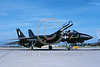 EE-F-14USN 00002 A static black Grumman F-14 Tomcat US Navy VX-4 THE EVALUATORS NAS Pt Mugo 4-1992 military airplane picture by Mick Roth