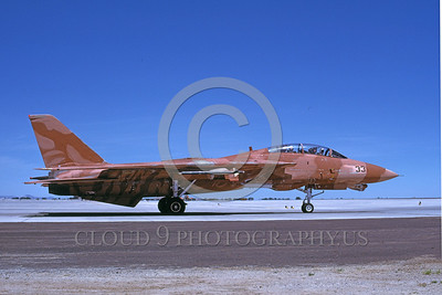 F-14USN-CAM 0003 A taxing pinkish-brown water color camouflage USN Grumman F-14 Tomcat jet fighter 158978 NAS Fallon 6-1985 military airplane picture by Michael Grove, Sr