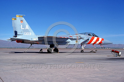 EE-F-15USAF 00004 A static McDonnell Douglas F-15 Eagle US Air Force jet fighter 73103 Luke AFB LA code 8-1976 military airplane picture by Peter J Mancus