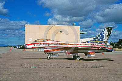 EE-F-16ANG 00002 A static colorful Lockheed Martin F-16 Fighting Falcon Vermont ANG jet fighter 10-1970 military airplane picture via African Aviation Slide Service