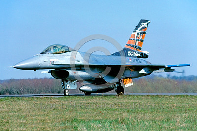 EE-F-16Forg 00001 A taxing colorful Dutch Air Force J-366 Lockheed Martin F-16 Fighting Falcon jet fighter 4-2004 military airplane picture by Raymond Bosselaar