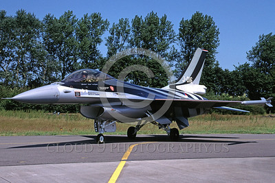 EE-F-16Forg 00009 A taxing colorful Lockheed Martin F-16 Fighting Falcon Dutch Air Force J-016 6-2003 military airplane picture by Marinus Tabak