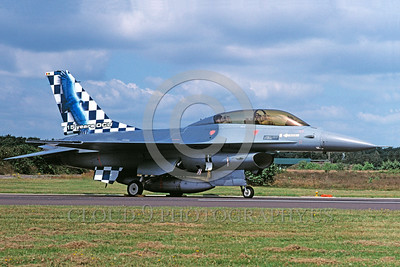 EE-F-16Forg 00026 A static colorful Lockheed Martin F-16 Fighting Falcon Dutch Air Force jet fighter 8-2002 military airplane picture by Wilfried Zetsche